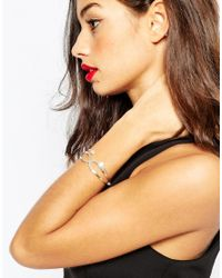 ASOS | Metallic Pack Of 2 Fine Open Cuff Bracelet Pack | Lyst