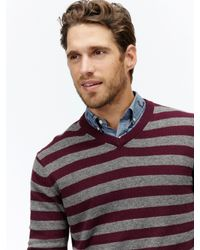 Joules Red Retford Lambswool Blend Striped Jumper for men