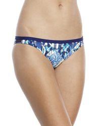 BCBGeneration - Blue I'M A Mesh For You Cropped Rashguard Top & Bikini Bottom - Lyst