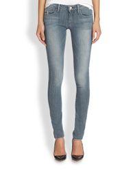 True Religion | Blue Jude Lowrise Skinny Jeans | Lyst
