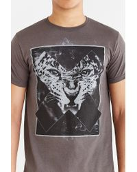 Urban Outfitters - Gray Leopard X Tee for Men - Lyst