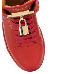 Buscemi | Red Classic Leather High Top Sneakers | Lyst
