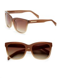 Vince Camuto Brown 50Mm, Square Sunglasses