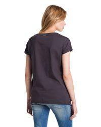 BOSS Orange - Black Cotton Tshirt Talmeise - Lyst