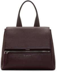 Givenchy | Purple Oxblood Leather Small Pandora Bag | Lyst