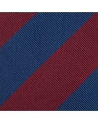 John Lewis Blue Made in England Wide Stripe Tie for men