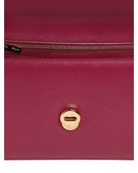 Ferragamo - Red Large Ginny Saffiano Leather Bag - Lyst