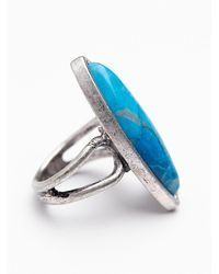 Free People | Blue Stone Ring | Lyst
