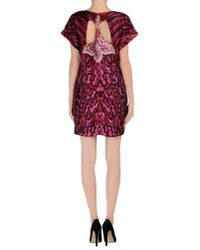 Just Cavalli - Red Cutout Silk-satin Mini Dress - Lyst