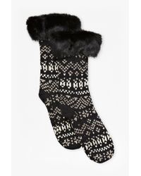French Connection Black Lina Knitted Socks