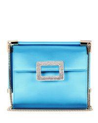 Roger Vivier Blue Miss Viv' Mini Shoulder Bag