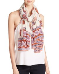 Tory Burch | Multicolor Dapper Paisley-Print Wool Scarf | Lyst