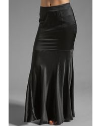 Pjk Patterson J. Kincaid Black Rapunzel Maxi Skirt in Caviar