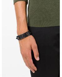 Valentino Black 'rockstud' Bracelet for men