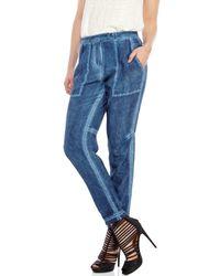 Maje | Blue Faded Silk Trousers | Lyst