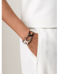 Rebecca | Metallic 'elizabeth' Circle Link Cuff | Lyst