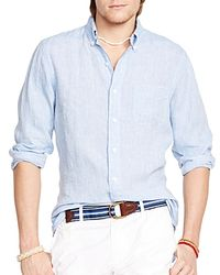 Ralph Lauren | Pink Polo Linen Chambray Mercer Button Down Shirt for Men | Lyst