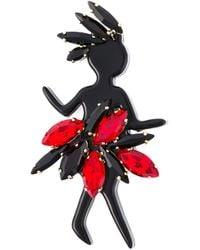 Marni Black Dancing Lady Brooch