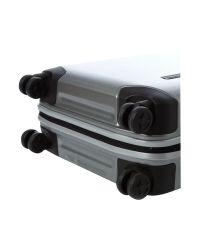 Samsonite Metallic Inova 55Cm Silver 4 Wheel Case for men