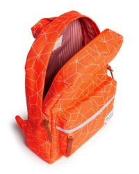 Herschel Supply Co. - Orange 'Heritage' Geometric Print Kids Backpack for Men - Lyst