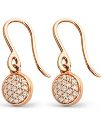 Astley Clarke | Pink 14ct Rose-gold And Diamond Mini Icon Drop Earrings | Lyst