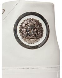 Versus White Lion Head Leather High Top Sneakers for men