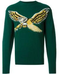 DIESEL - Blue Eagle Intarsia Sweater for Men - Lyst