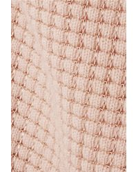 Vince - Pink Open-Knit Cashmere-Blend Sweater - Lyst