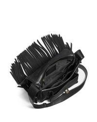 COACH Black X Blitz 'dakotah' Small Fringe Flap Leather Satchel