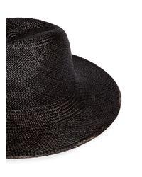 Janessa Leone   Black 'rita' Handwoven Straw Panama Hat for Men   Lyst