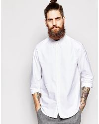 Timberland White Oxford Shirt Slim Fit for men