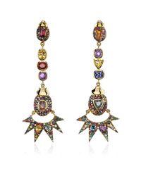 Daniela Villegas | Multicolor One Of A Kind Pow Wow Long Earrings | Lyst