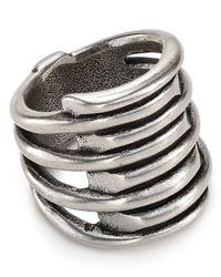 Uno De 50 | Metallic Tornado Ring | Lyst
