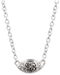 Judith Jack | Metallic Crystal And Marcasite Evil Eye Pendant Necklace | Lyst