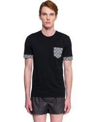 Dolce & Gabbana Black Classic V-neck T-shirt for men