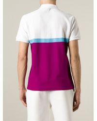 KENZO - Purple Colour-Block Polo Shirt for Men - Lyst