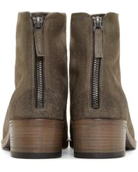 Marsèll Gray Grey Suede Ankle Boots for men