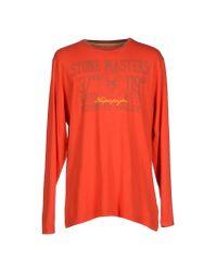 Napapijri - Orange T-shirt for Men - Lyst