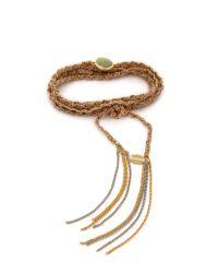 Sogoli - Metallic Stone Wrap Chain Bracelet - Gold/silver/rose Gold/turq - Lyst