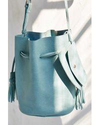 Silence + Noise Green Simple Bucket Bag