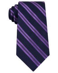 Michael Kors | Blue Michael Advocate Stripe Tie for Men | Lyst