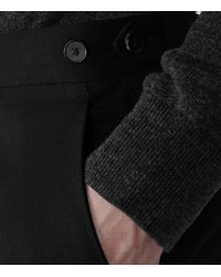 Reiss | Black Bryant Slim Tailored Trousers for Men | Lyst
