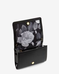 Ted Baker - Black Patent Leather Cross Body Bag - Lyst