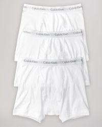 Calvin Klein White Cotton Classics Boxer Briefs, Pack Of 3 for men