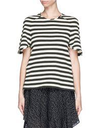Chloé - Black Nautical Stripe Side Zip Wool Top - Lyst