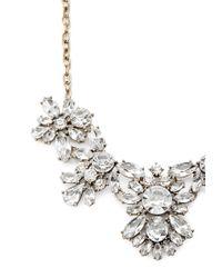 Forever 21 - Metallic Rhinestone Flower Statement Necklace - Lyst