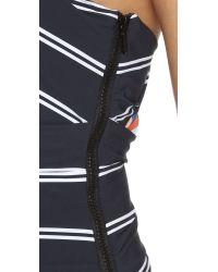Preen By Thornton Bregazzi - Black One Shoulder Swimsuit - Lyst