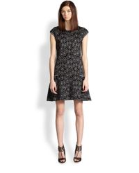 Marc By Marc Jacobs Black Cassidy Leopard Jacquard Dress