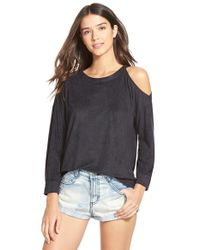 RVCA | Black Just Hangin Cold-Shoulder Top | Lyst