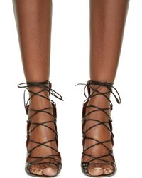Isabel Marant - Black Leather Lelie Ghillies Gladiator Sandals - Lyst